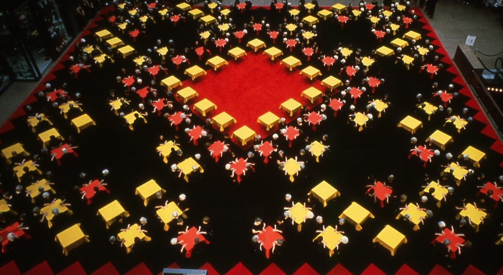 Suzanne Lacy, The Crystal Quilt, 1985-7 photo- Gus Gustafson Ltd