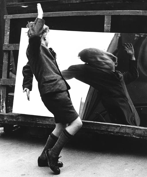 'The Boy and the Distorting Mirror, Rotherham, July 1960' - John Chillingworth (b. 1928)