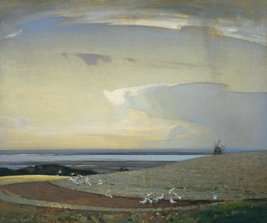 The Line of the Plough exhibited 1919 Sir Arnesby Brown 1866-1955 Presented by the Trustees of the Chantrey Bequest 1919