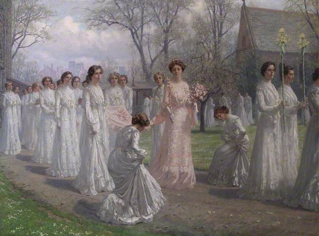 Whitelands College May Day Procession, 1902 by Anna Richards Brewster
