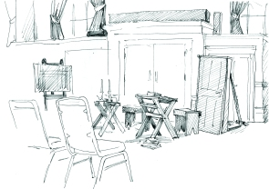 The Bricks of Burston set at Swaffham Assembly Hall (Rosie Redzia 2014)