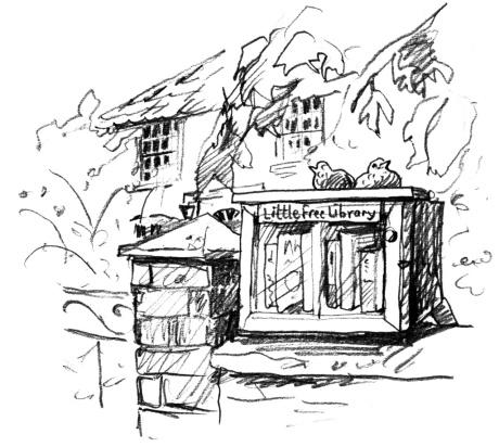Little Free library Methwold Rosie Redzia